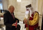 Former Sen. Joe Lieberman addresses a Nowruz reception sponsored by the Organization of Iranian American Communities, on Capitol Hill on Wednesday, March 15, 2017.