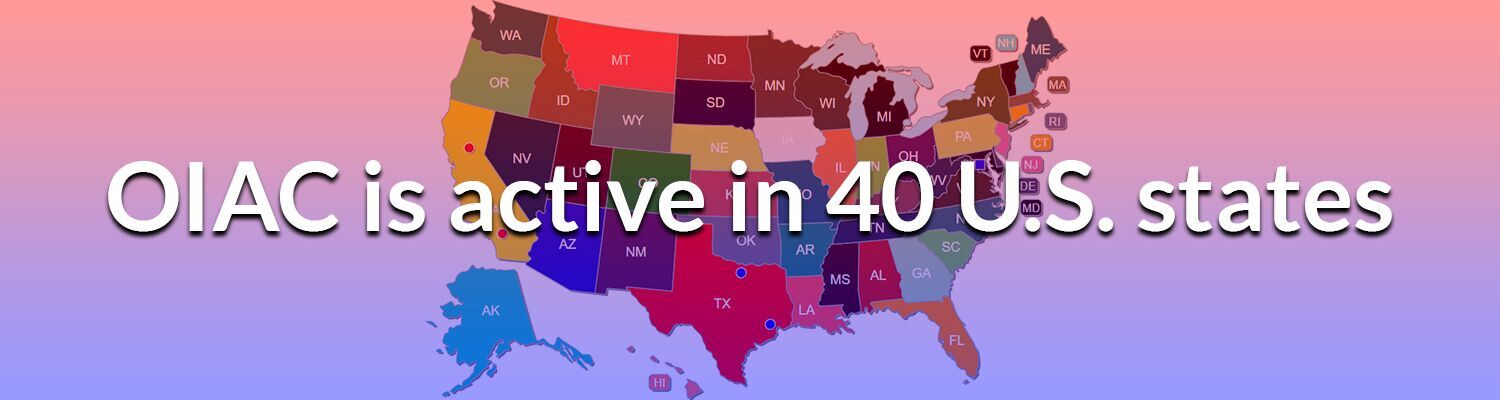 OIAC is Active In 40 U.S. States
