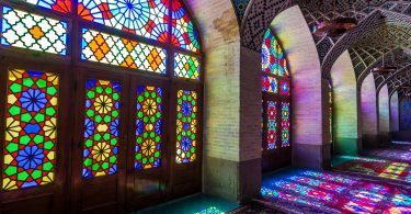 Colored glass in Nasir ol Molk Mosque