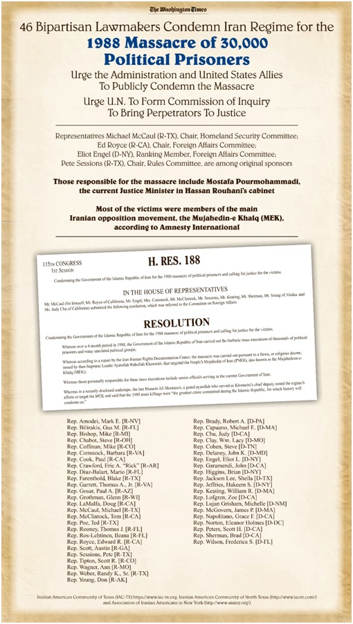 Resolution of 46 Bipartisan Law Makers