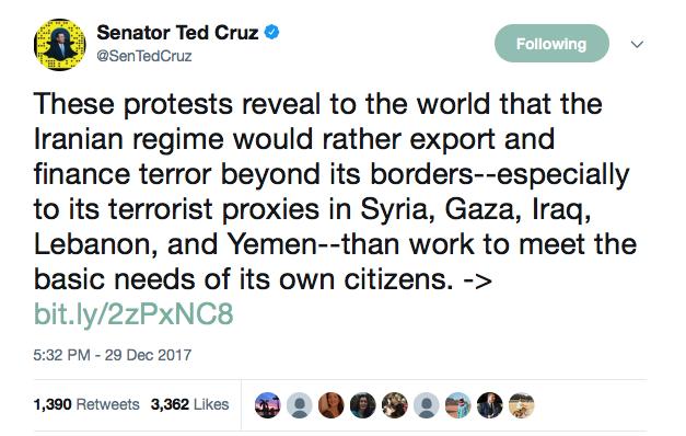 Tweet By Senator Ted Cruz